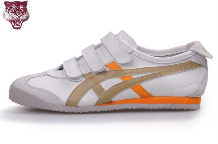 Onitsuka Tiger Mexico 66 Baja Shoes White/Brown/Orange