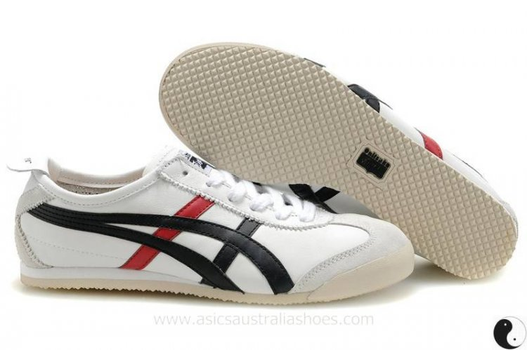 Onitsuka Tiger Mexico 66 Women's Shoes White/Black/Red