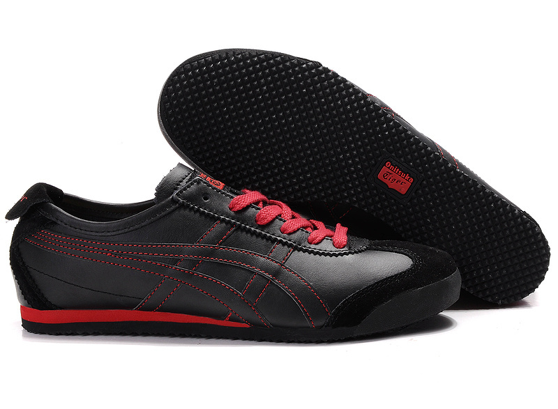 Onitsuka Tiger Mexico 66 Lauta Shoes in Black and Red