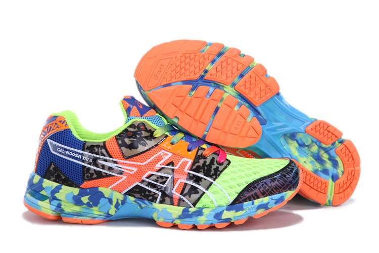 Asics GEL-NOOSA TRI 8 Mens Running Shoes-Onyx Yellow Confetti