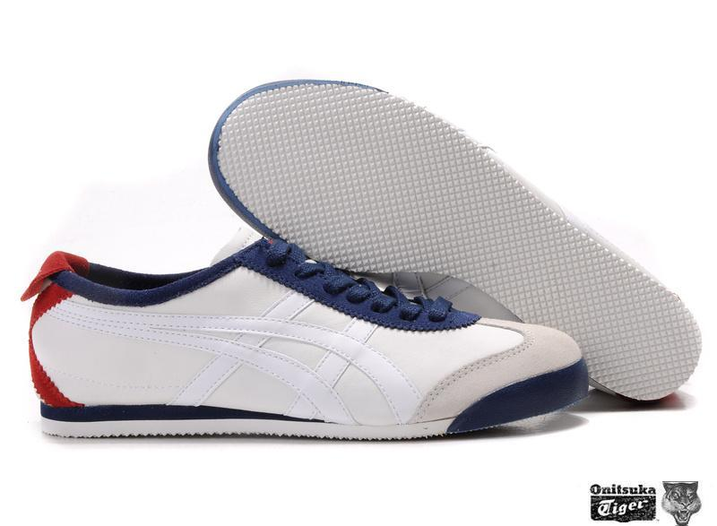Onitsuka Tiger Mexico 66 Lauta Shoes in White Red Dark Blue