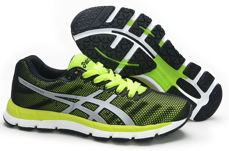 ASICS GEL-Hyper 33 lody shoes black green white
