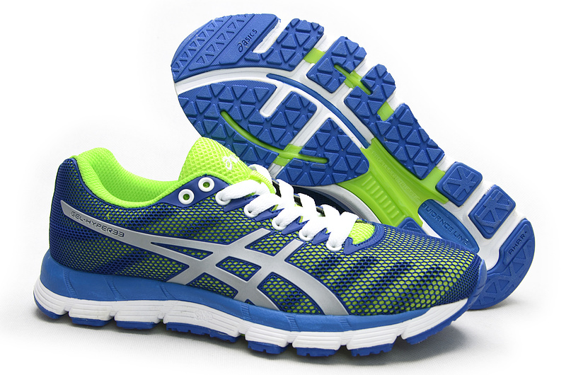 ASICS GEL-Hyper 33 lody shoes green blue white