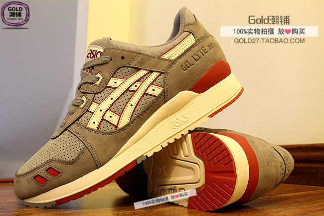ASICS Gel Saga Gel Lyte III 3 men shoes white grey red