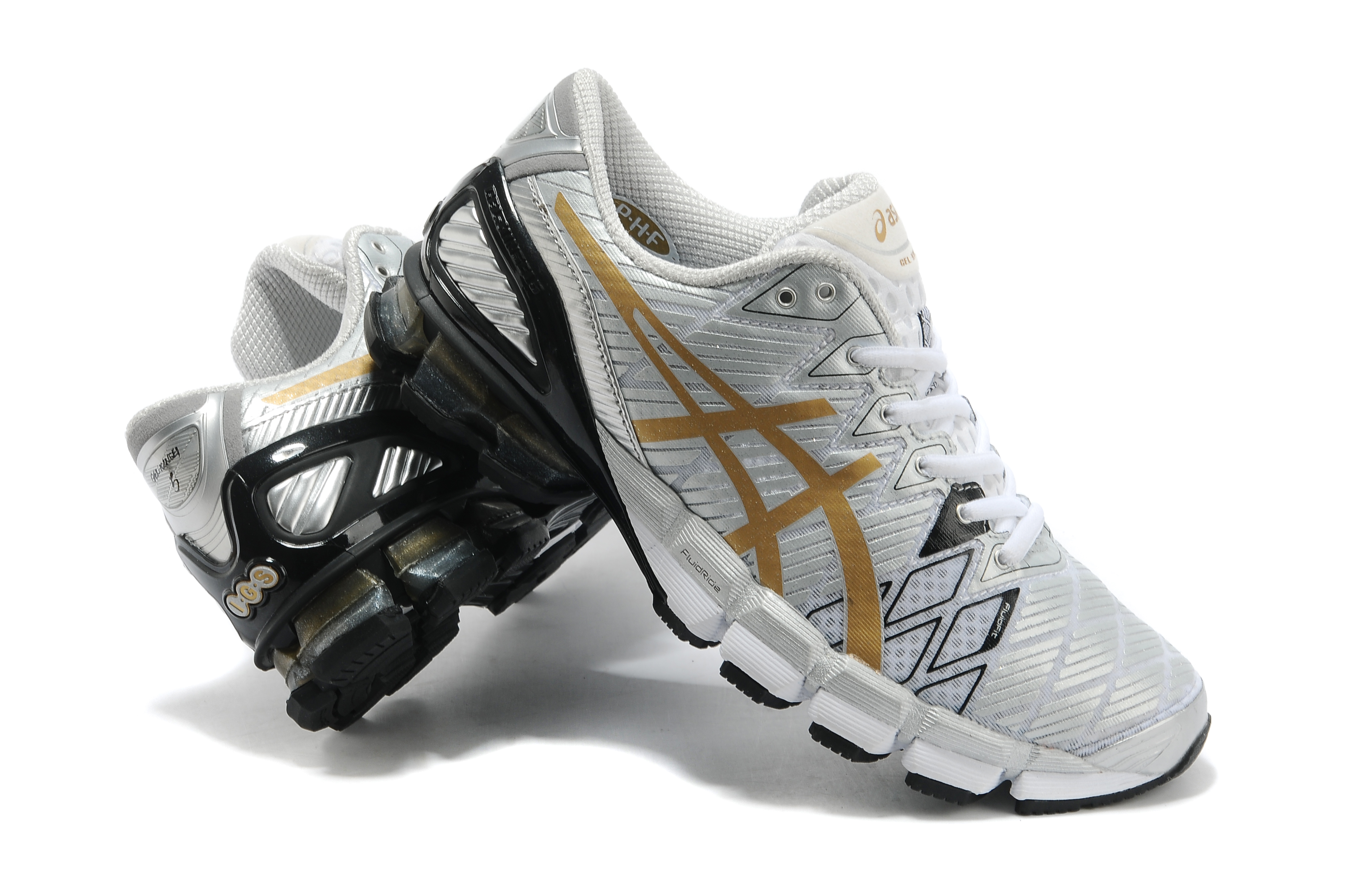 Asics gel-5 men running shoes Black Silver Gold