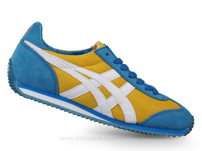Asics California 78 Yellow Blue Shoes