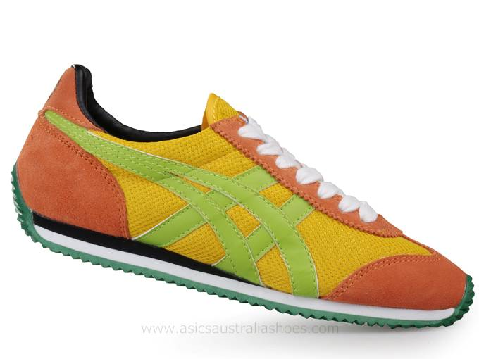 Asics California 78 Yellow Red Shoes