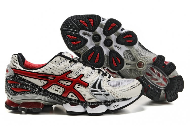 Asics Gel Kinsei 2 Mens White Red Black Shoes