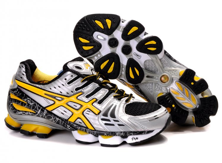 Asics Gel Kinsei 2 mens Silver Yellow Shoes