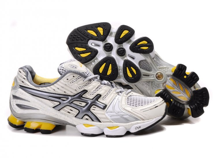 Asics Gel Kinsei 2 mens White/Dark Grey/Yellow Shoes