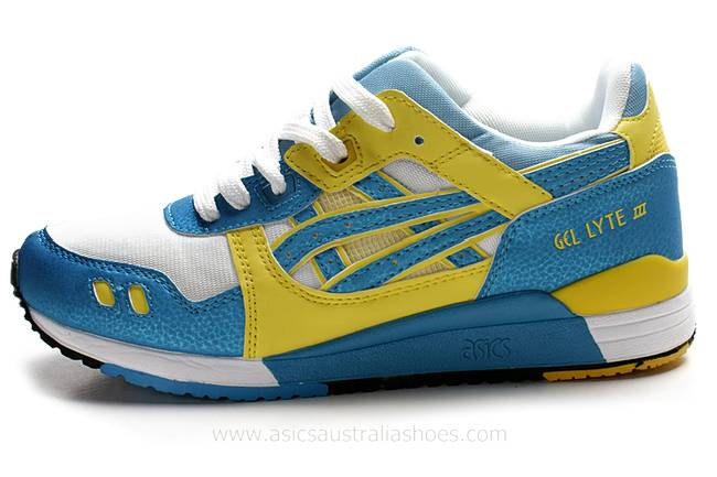 Asics Gel Lyte III Blue Yellow Shoes