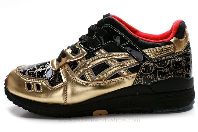 Asics Gel Lyte III Hello Kitty Shoes Gold