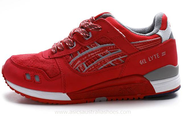 Asics Gel Lyte III Red Shoes