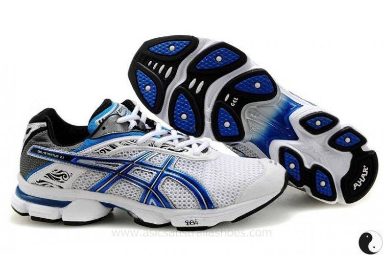 Asics Gel Stratus 2.1 mens Shoes White/Royal Blue