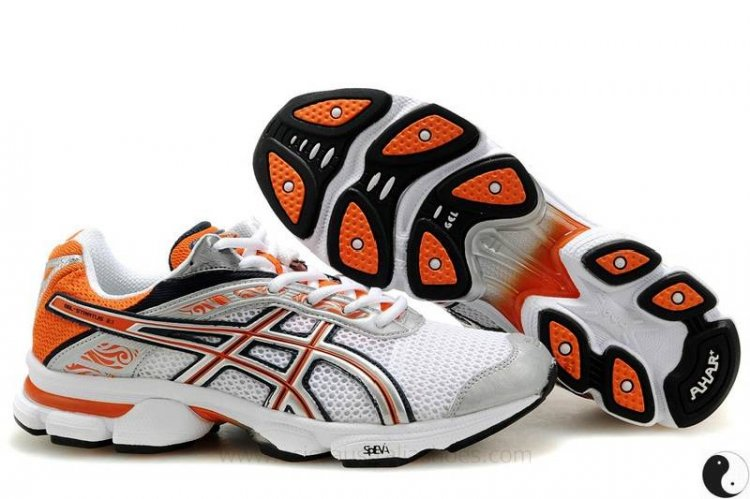 Asics Gel Stratus 2.1 mens White Orange Shoes