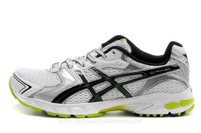 Asics Gel Stratus 2.1 mens White Silver Green Shoes