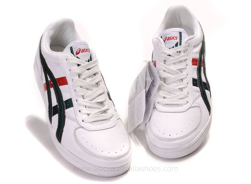 Asics Mens Top Seven White Green Red Shoes