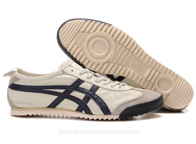 Onitsuka Tiger Mexico 66 Deluxe Beige Navy Shoes