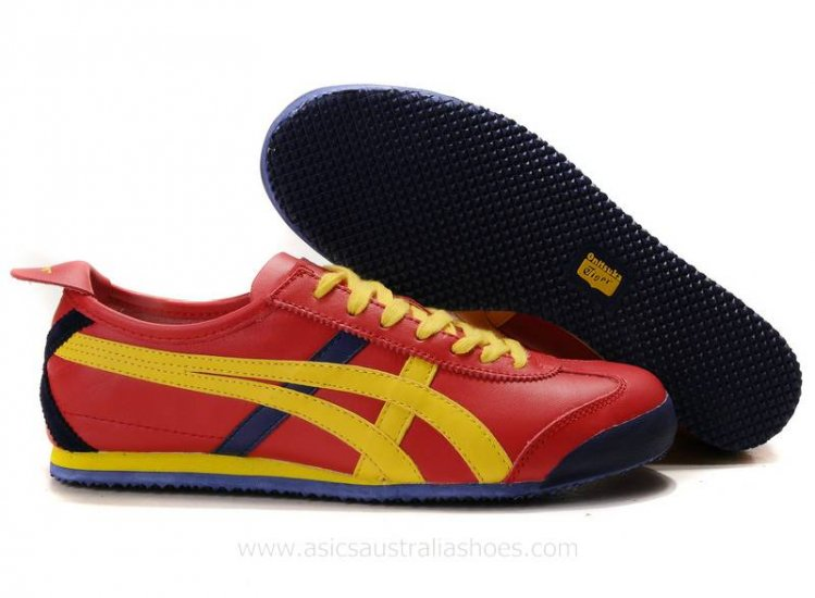 Onitsuka Tiger Mexico 66 Lauta Red Yellow Shoes