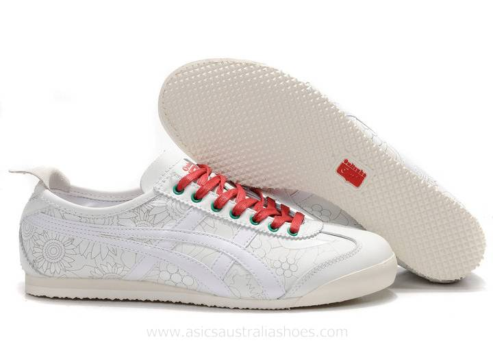 Onitsuka Tiger Mexico 66 Shoes White/Red/Dark Green