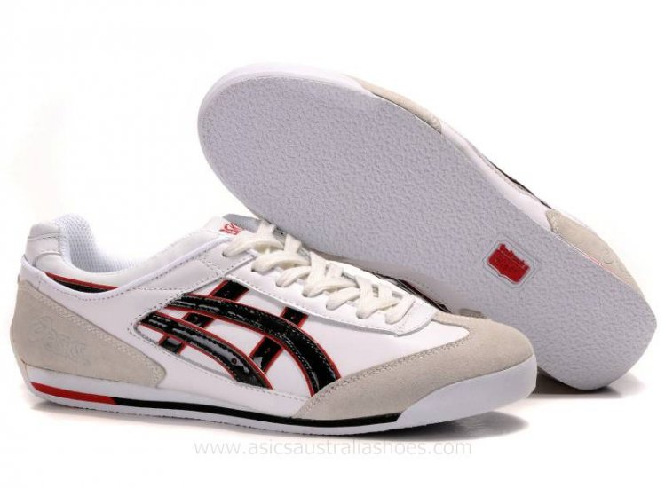 Onitsuka Tiger Mexico 66 White Black Red Shoes