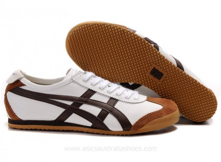 Onitsuka Tiger Mexico 66 White Brown Shoes