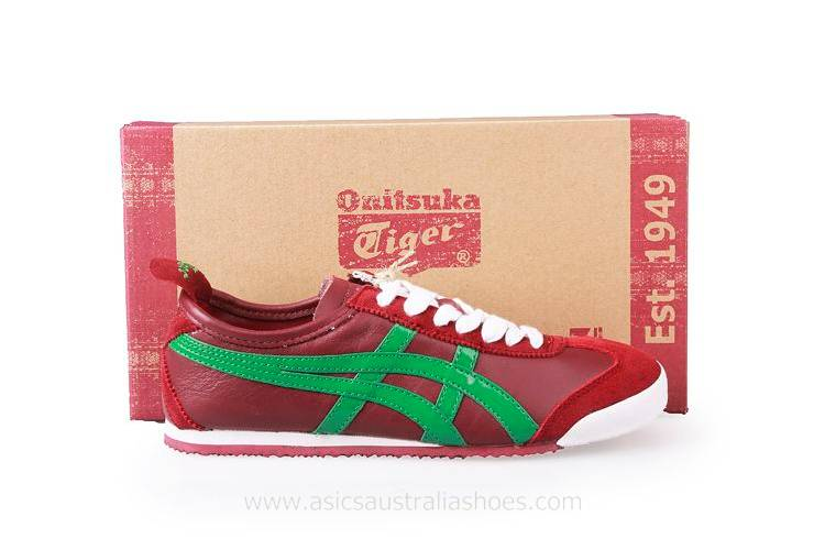 Onitsuka Tiger Mexico 66 Women Red Green Shoes