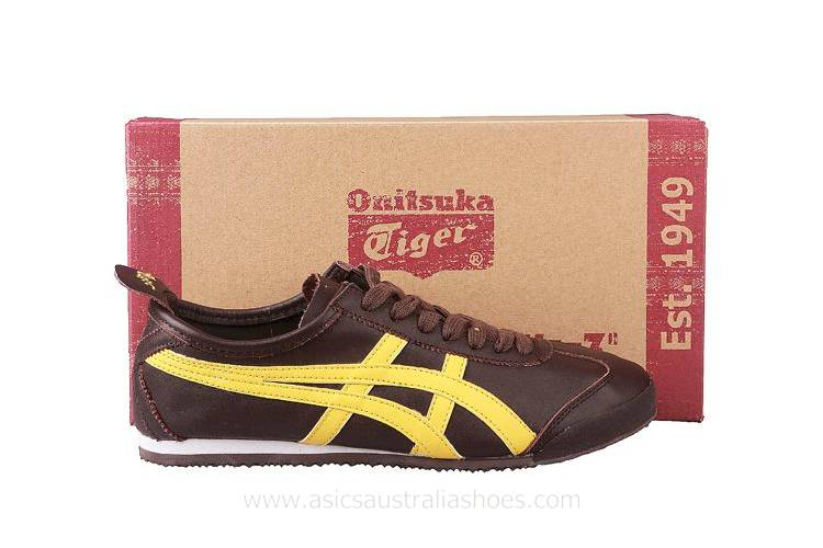 Onitsuka Tiger Mexico 66 Women's Shoes Brown Yellow