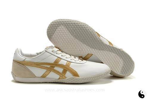 Asics Olympos White Gold Shoes