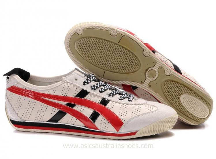 Asics Onitsuka Tiger Mini Beige Red Shoes