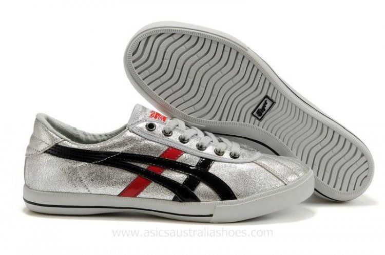 Asics Rotation 77 men Silver Black Red Shoes