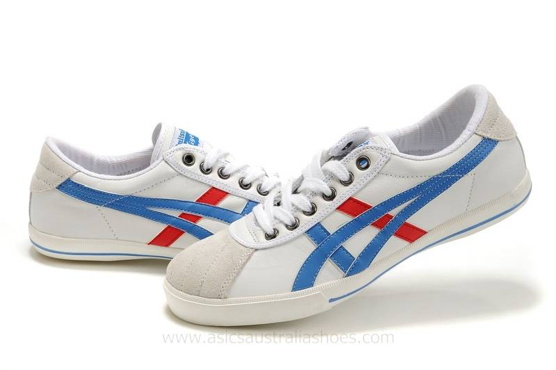 Asics Rotation 77 men White Blue Red Shoes