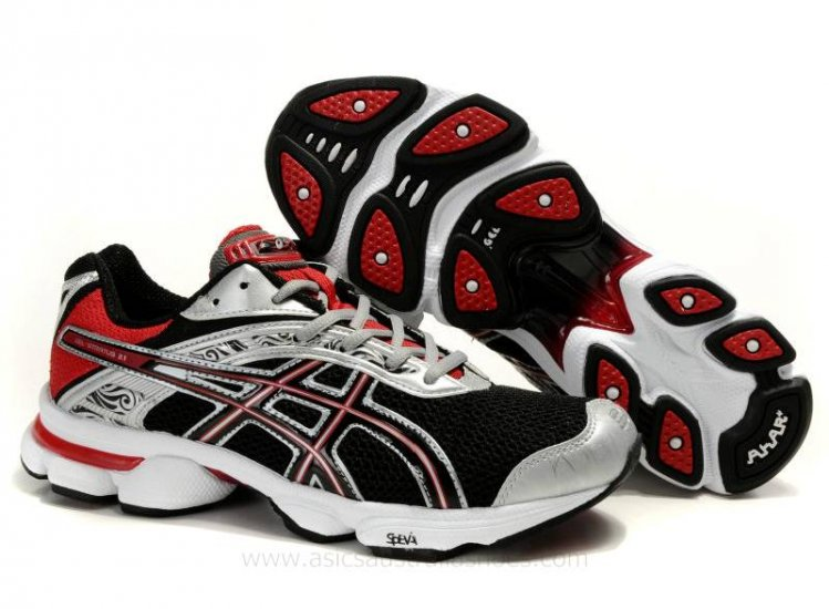Asics Stratus 2.1 men Black Red Silver Shoes