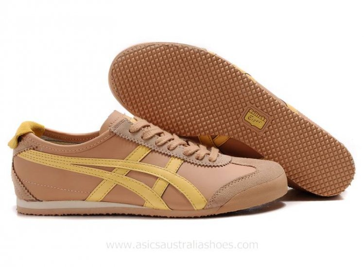 Asics Tiger Mexico 66 Brown Yellow Shoes