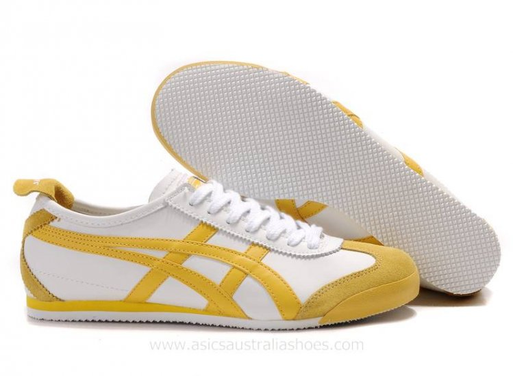 Asics Tiger Mexico 66 White Yellow Shoes