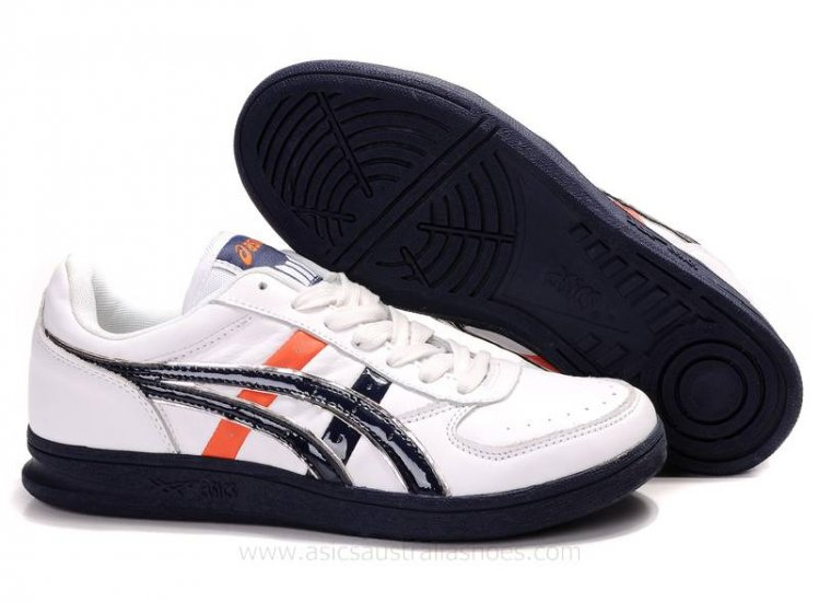 Asics Top Seven White Navy Red Shoes