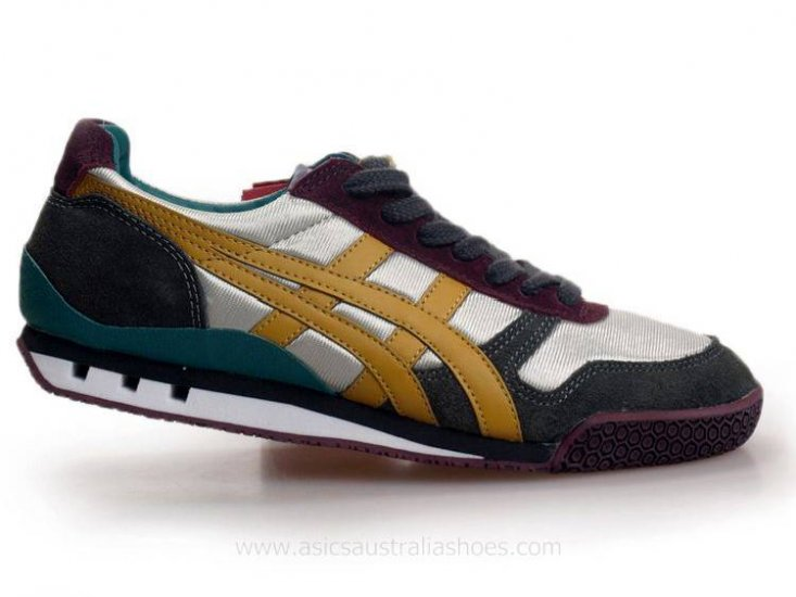 Asics Ultimate 81 Silver Grey Yellow Shoes
