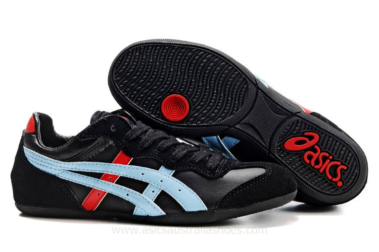 Asics Whizzer Lo Black Blue Red Shoes