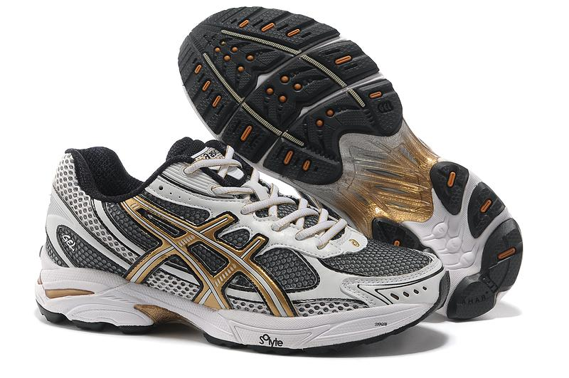 Asics Gel Cushioning T004N Running Shoes 2013 New Style Mens Shoes Beige-Black-Gold