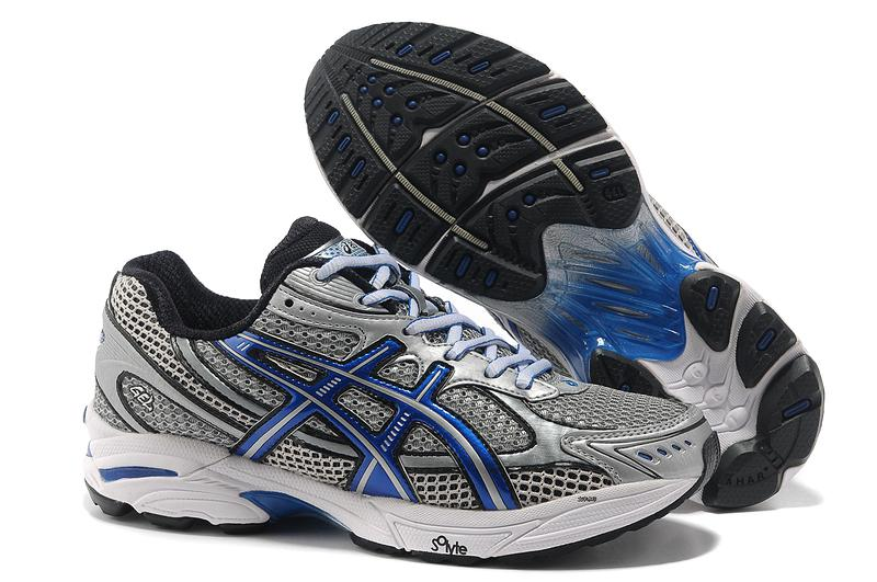 Asics Gel Cushioning T004N Running Shoes 2013 New Style Mens Shoes Sliver-Gray-Royal