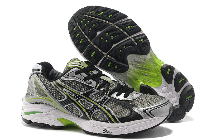 Asics Gel Cushioning TN805 Running Shoes 2013 New Style Mens Shoes Black-Gray-Lt Green