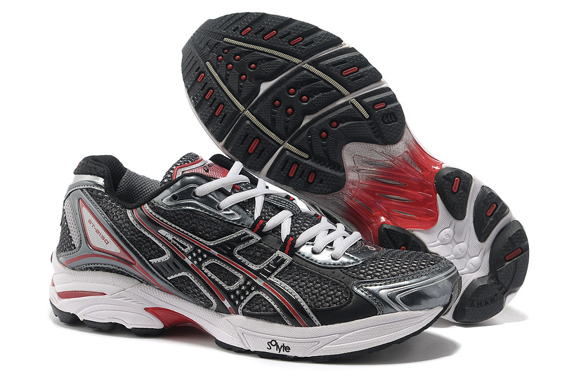 Asics Gel Cushioning TN805 Running Shoes 2013 New Style Mens Shoes Black-Sliver-Grey-Red
