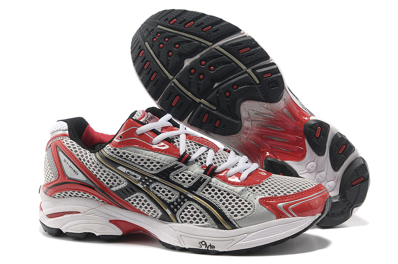 Asics Gel Cushioning TN805 Running Shoes 2013 New Style Mens Shoes Red-Black-Grey-Sliver