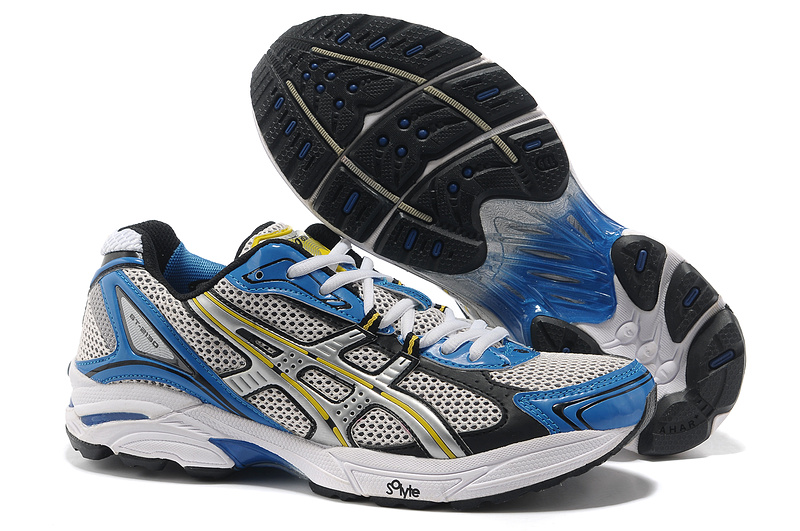 Asics Gel Cushioning TN805 Running Shoes 2013 New Style Mens Shoes Royal-Gray-Sliver