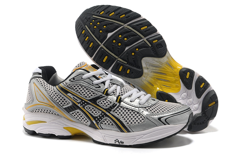Asics Gel Cushioning TN805 Running Shoes 2013 New Style Mens Shoes Sliver-Gray-Yellow