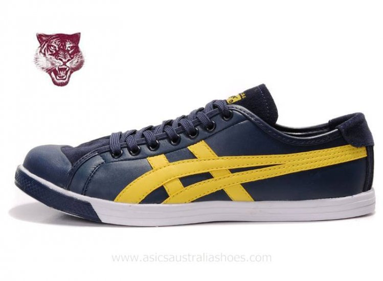 Onitsuka Tiger Coolidge Lo Navy Yellow mens Shoes