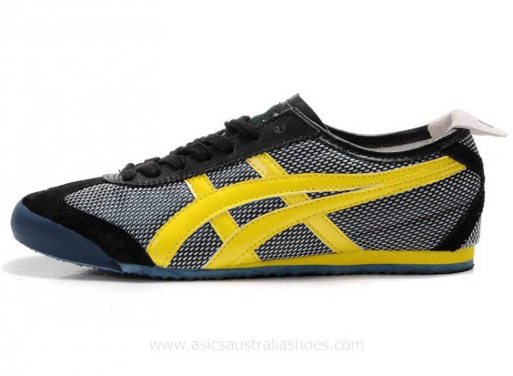 Onitsuka Tiger Kanuchi Shoes Black Yellow