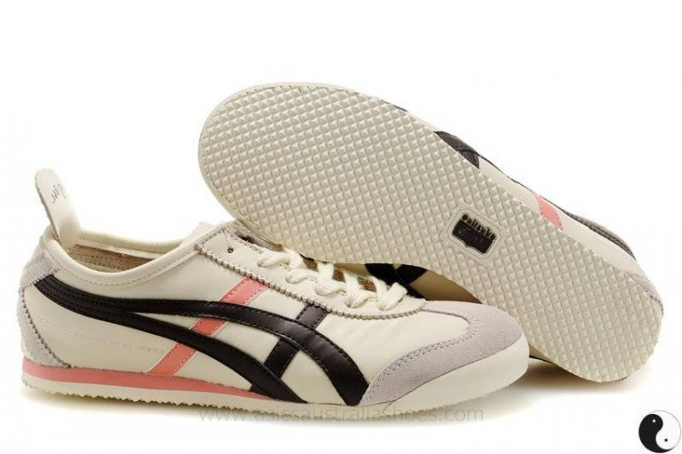 Onitsuka Tiger Mexico 66 Beige Black Pink Shoe
