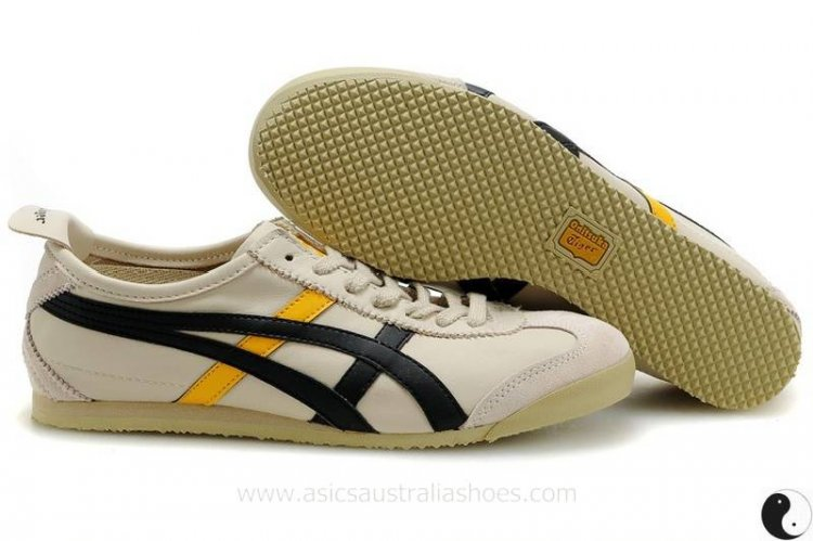 Onitsuka Tiger Mexico 66 Beige Black Shoes