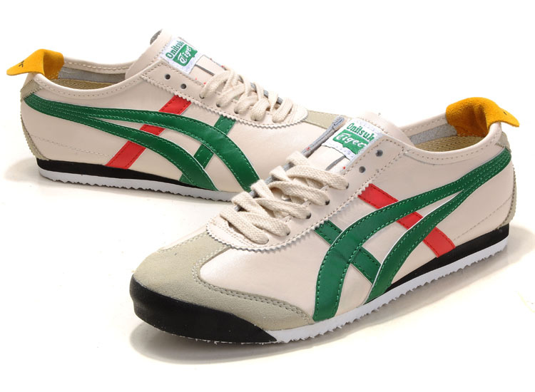 Onitsuka Tiger Mexico 66 Beige Green Red